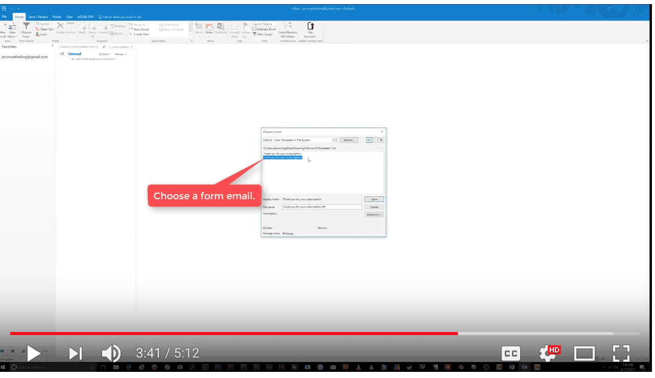 how to show the ribbon in outlook 2016